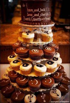 wedding geek cake - love the top tier