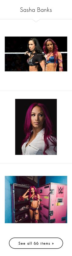 """Sasha Banks"" by theonewithstarsinhereyes ❤ liked on Polyvore featuring home, home decor, divas, wwe, small item storage, cena, wwe diva and sasha banks"