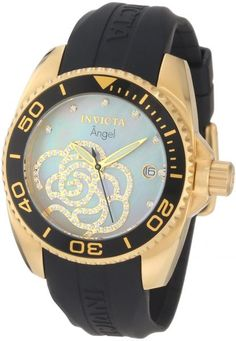 Invicta Women's 0489 Angel Collection Cubic Zirconia Accented Polyurethane Watch in UAE | Souq