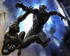 This is my painting for the back cover of the Art of Black Panther book. I don't always get time during a project to finish an action piece like this so it's always fun to get to do the covers for the books. #blackpanther #killmonger #tchalla #wakanda #marvelstudios #marvelcinematicuniverse #conceptart #digitalpainting #chadwickboseman #michaelbjordan