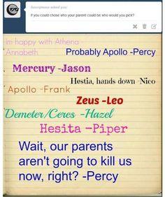 Percy would keep Poseidon though