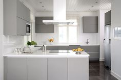 Kitchen, matte grey doors