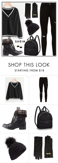 """""""Shein - Sweatshirt"""" by tlb0318 ❤ liked on Polyvore featuring Charlotte Russe, Miss Selfridge and Moschino"""