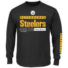 d00e8cbbb83 NFL Team Apparel Pittsburgh Steelers Long Sleeve Black T-Shirt