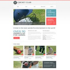 Cricket Bootstrap Website Template