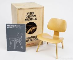 Vitra Design Museum Miniature Collection Charles & Ray Eames DCW 1945 Chair Scale Model Homes, Vitra Chair, Miniature Chair, Mini Chair, Vitra Design Museum, The Dream, Charles & Ray Eames, Modern Dollhouse, Furniture Showroom