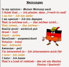 German For Beginners: Expressing opinion