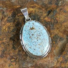 Dry Creek Turquoise Sterling Silver Pendant