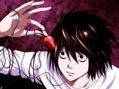 L with a strawberry / death note