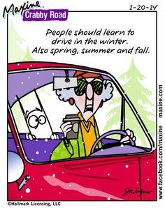 Les gens devraient apprendre à conduire en hiver... Et aussi au printemps, en été et en automne !