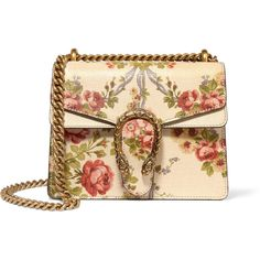 Gucci for NET-A-PORTER Dionysus mini floral-print leather shoulder bag (2 160 AUD) ❤ liked on Polyvore featuring bags, handbags, shoulder bags, gucci, bolsas, neutrals, genuine leather shoulder bag, hand bags, gucci handbags and man leather shoulder bag