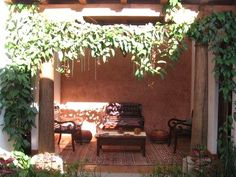 cozy outdoor living area - 3 bdr Spanish colonial home in Antigua Guatemala