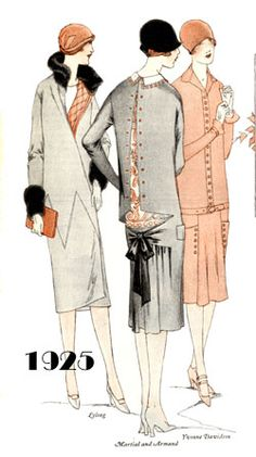 FASHIONABLE LADIES DRESSES 1925