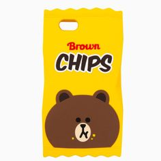 Line Friends Bear Brown iPhone 6/6S Plus Silicone Apple Case Skin Cover Yellow #LineFriends