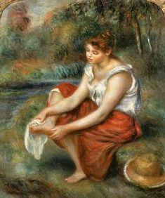 Pierre-Auguste Renoir - Woman Washing her Feet
