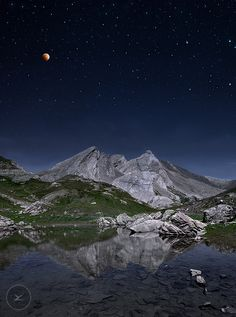Full Moon to The Giants, Col Agnel ~ Border France-Italy