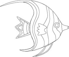 Tropical Fish Coloring Page Free Printable Crafts Sheet