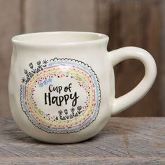 Happy Mug with Cup of Happy