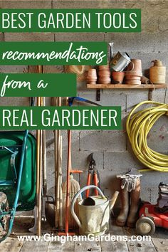 Tired of spending money on crappy garden tools. Get a list of the best garden tools, plus tips for taking care of your garden tools. Best Gardening Tools recommended by a Real Gardener and not a writer. Best Garden Tools, Gardening Tools, Garden Maintenance, Garden Pests, Amazing Gardens, Tired, Writer, Money, Gifts