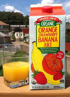 What's Good at Trader Joe's?: Trader Joe's Organic Orange Strawberry Banana Juice, that's what! Taste the goodness Healthy Meal Prep, Healthy Foods, Eating Healthy, Healthy Eats, Healthy Life, Clean Eating, Halal Snacks, Makers Diet, Garden Labels