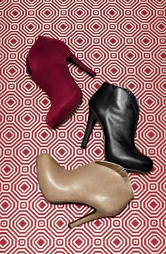 Platform booties in fall colors -- one of each please!