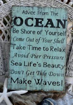Ocean Advice...great for Elijah's bathroom!