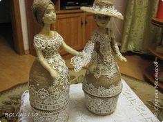 Поделка изделие Моделирование конструирование Шпагатные куклы шкатулки 4 фото 1