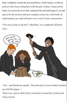 Harry is literally the biggest Ronmione shipper out there Harry Potter Comics, Harry Potter Artwork, Harry Potter Marauders, Harry Potter Tumblr, Harry Potter Jokes, Harry Potter Fandom, Harry Potter World, Harry Potter Hogwarts, Yer A Wizard Harry