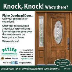 Plyler Overhead Door With Your Gorgeous New Entry