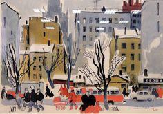 Сигорский Василий Николаевич (1902-1978) «Старый и Новый Арбат» из серии «Москва» 1977-1978