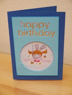 BIBRE´s Fadenzauber: Geburtstagsgeschenk Birthday Card Birthday Cards, Blog, Birth, Gifts, Bday Cards, Anniversary Cards, Blogging