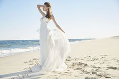 Ti Adora by Alvina Valenta - ivory and soft lace a-line wedding dress with sweetheart neckline and spaghetti strapes