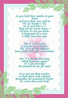 Jelly bean poem easter gift jelly beans poem and easter easter mms poem negle Images
