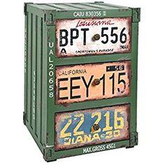 ts-ideen Kommode Schrank Container im Industrie Design Shabby Metall Optik Vintage 34 x 51cm