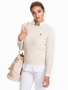 Julianna Sweater - Ralph Lauren Polo Ww - Cream - Tröjor - Kläder - Kvinna - Nelly.com