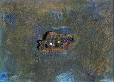 Arenas, pigmentos naturales, resina y madrea sobre tabla. Autor: Frutos María.