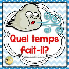 - Whats the weather like? in FrenchGetting your students to… Classroom Word Wall, French Classroom, School Hacks, School Tips, School Stuff, Weather Display, Core French, French Resources, Recording Sheets