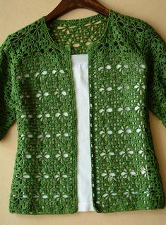 Cardigan crochet vert Kingdom Crochet Kingdom - Cardigan crochet vert Kingdom Crochet Kingdom Vous êtes à la bonne adresse pour diy crafts Nous re - Gilet Crochet, Crochet Cardigan Pattern, Crochet Jacket, Crochet Blouse, Crochet Shawl, Crochet Stitches, Knit Crochet, Lace Cardigan, Crochet Sweaters