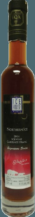 Cabernet Franc Icewine yes! Visit The Ice House WInery to enjoy two Northern Ice Premium Red Icewine's robust red fruit notes. Ice Houses, Red Fruit, Slushies, Cabernet Sauvignon, Wineries, Whiskey Bottle, Bottles, Canada, Wine Cellars