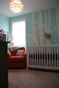 quarto bebe decorado azul turquesa
