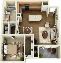 Sims 4 House Plans, Sims 4 House Building, Tiny House Plans, House Floor Plans, Apartment Layout, Apartment Plans, Apartment Design, Sims House Design, 3d Home