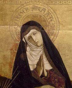 La Vierge (détail); Enguerrand Quarton – La Pietà de Villeneuve-lès-Avignon, 1455 | Musée du Louvre