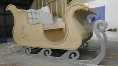The brief was to create a life-size sleigh for Santa to use whilst many children came to visit him at the Winter wonderland during Christmas.