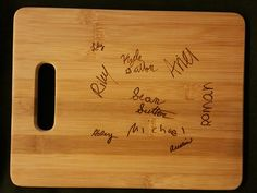 Custom engraved cutting board for Jean from 3DCarving on Etsy