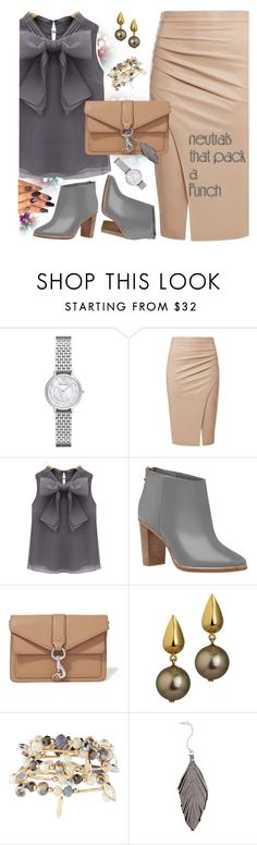 """""""Neutrals"""" by petalp ❤ liked on Polyvore featuring Emporio Armani, Ted Baker, Rebecca Minkoff, Emily & Ashley, Ralph Lauren and ootd"""