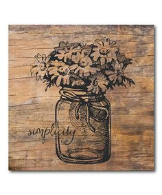 Another great find on #zulily! Simplicity Jar Wrapped Canvas #zulilyfinds