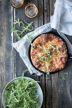 Eltefri pannepizza - Fru Timian Pot Pasta, Chorizo, Pepperoni, Pizza, Food, Families, Essen, Meals, Yemek