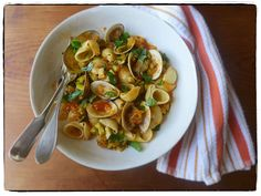 Lumache with Zucchini & Clams from Canal House's Pronto