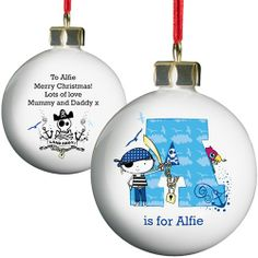 Personalised Christmas Bauble - Little Pirate  from Personalised Gifts Shop - ONLY £9.99