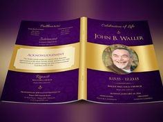green regal funeral program publisher template is created in